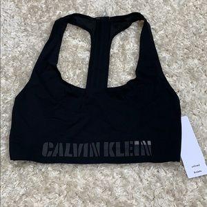 Seamless Black Calvin Klein Sports Bra